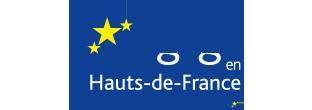 Logo de l'Europe s'engage pour la région des Hauts-de-France